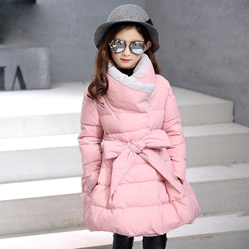 Winter Girls Jackets Kids Clothes Thicken Warm Girls Parka Coats Cotton Children Brand Outerwear 2 3 5 7 9 12 Years iyeal kids winter jackets 2017 new solid hooded baby girls boys cotton thincken coats infant outerwear warm clothes 1 4 years