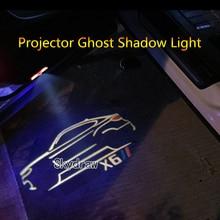 2 шт. для BMW X6 E71 E72 F16(2008-) Автомобильный светодиодный Двери предупреждающий световой прожектор проектор Ghost Shadow светильник Добро пожаловать светильник