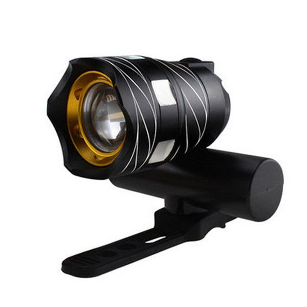 Zoomable 15000LM T6 LED Flashlight Torch+360°Mount Clip Bike Holder Hiking Lamp