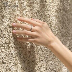 Image 3 - Thaya côte à côte Design anneaux Cool en été S925 bijoux en argent Sterling Couple anneau pour cadeau de fiançailles de mariage