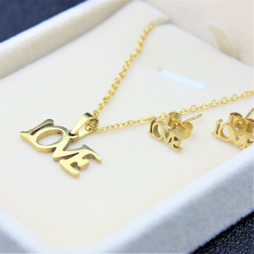 Pendants Necklace Set Choker Trendy Cute For Women Accessories Charming Fashion Pendant Choker Love Jewelry Free Shiping 2018