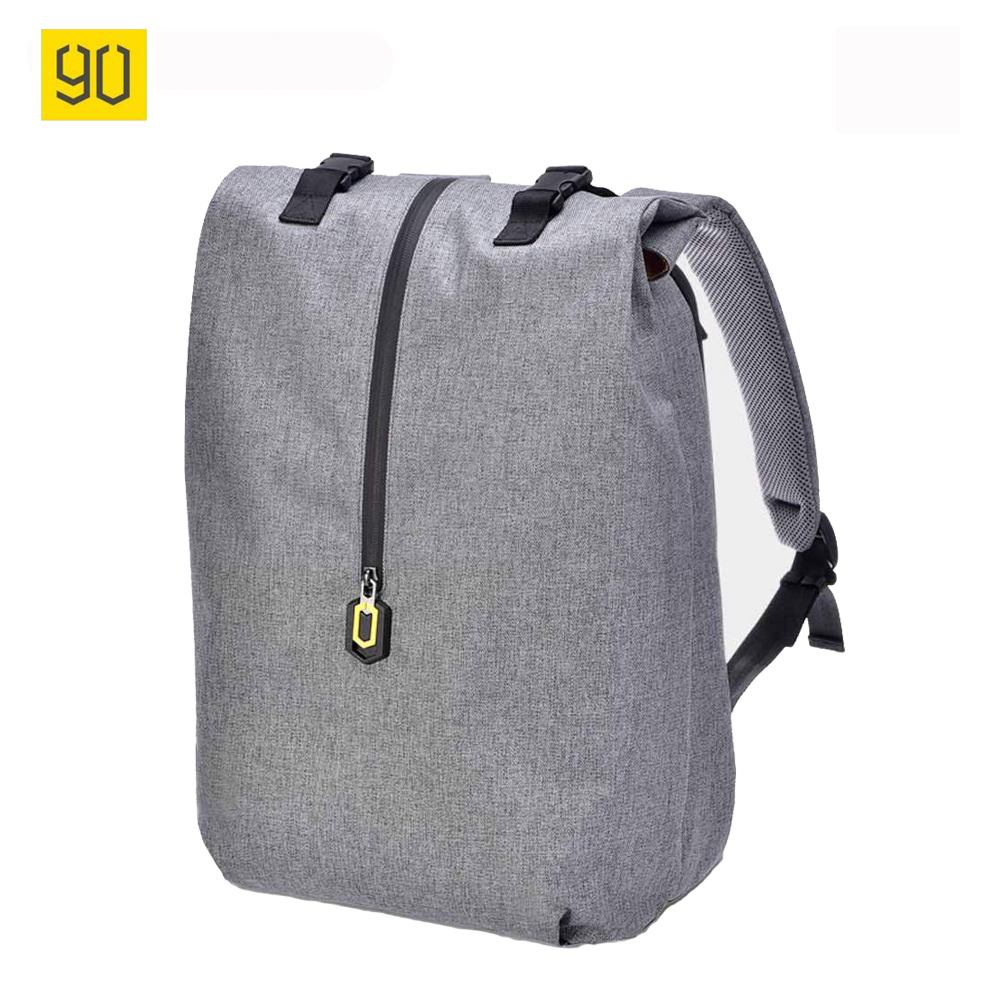 Original Xiaomi 90 Fun Leisure Mi Backpack 14 Inches Casual Travel Laptop Rucksack College Student School Bag Gray Blue image