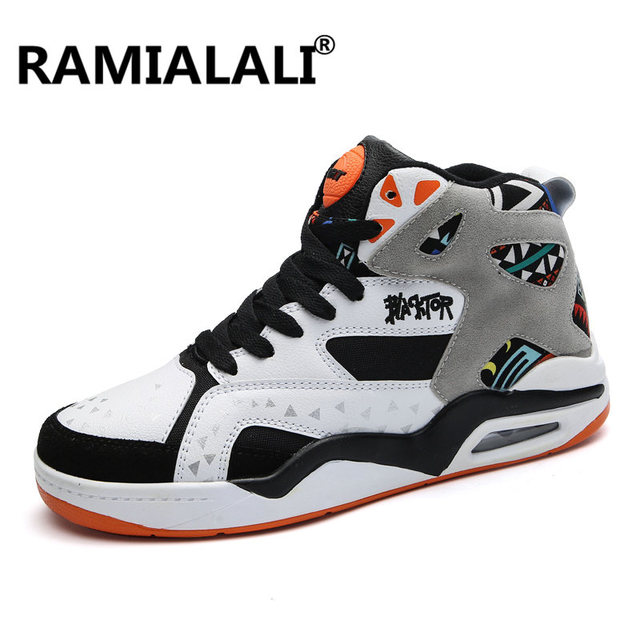 Men Basketball Shoes High Top Sneakers Men Outdoor Sport Shoes Basket  Hombre Breathable Ankle Boots Air Cushion Black 6537ff2d8