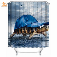 Memory Home Christmas Gift Custom Animal Shower Curtain 100 Polyester Fabric Standard Size 36x72inch 90x180cm Shower