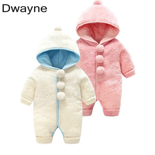 1db8d5d86 New Baby Rompers Winter Boys Girls Clothes Polyester Baby Jumpsuit ...