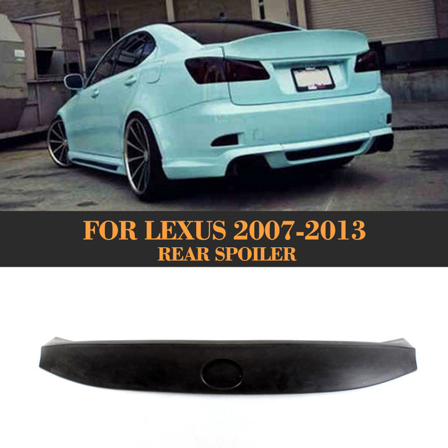 2007 Lexus Is350 Weight: Black PU Auto Car Rear Spoiler Trunk Lip Spoiler For Lexus