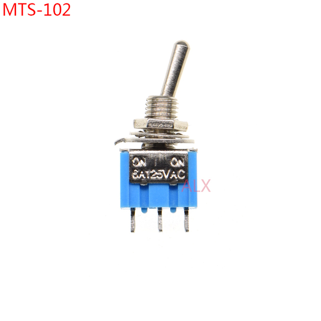 Electrical Diy Power Control 3pin Toggle Switch Blue Silver 10 ...
