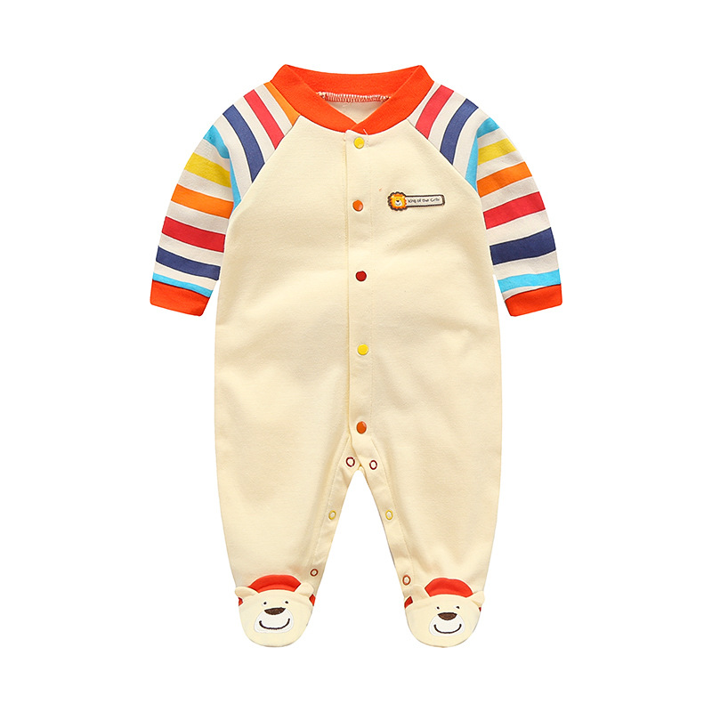 0-12M Baby   Rompers   Newborn Baby Clothes Baby Boy   Romper   Long Sleeve Sleepsuit Autumn Overalls Girl Clothes 2019 Cartoon Pajamas