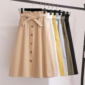 5f0badcf1 Beiyingni verano estampado de dibujos animados Faldas de mujer plisadas  Casual coreano Retro ...