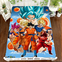 Japanese Anime Dragon Ball Z Super Saiyan Son Goku Bed Sheet 3D Bedding Coverlet Cosplay Cartoon Character Printing Flat Sheet