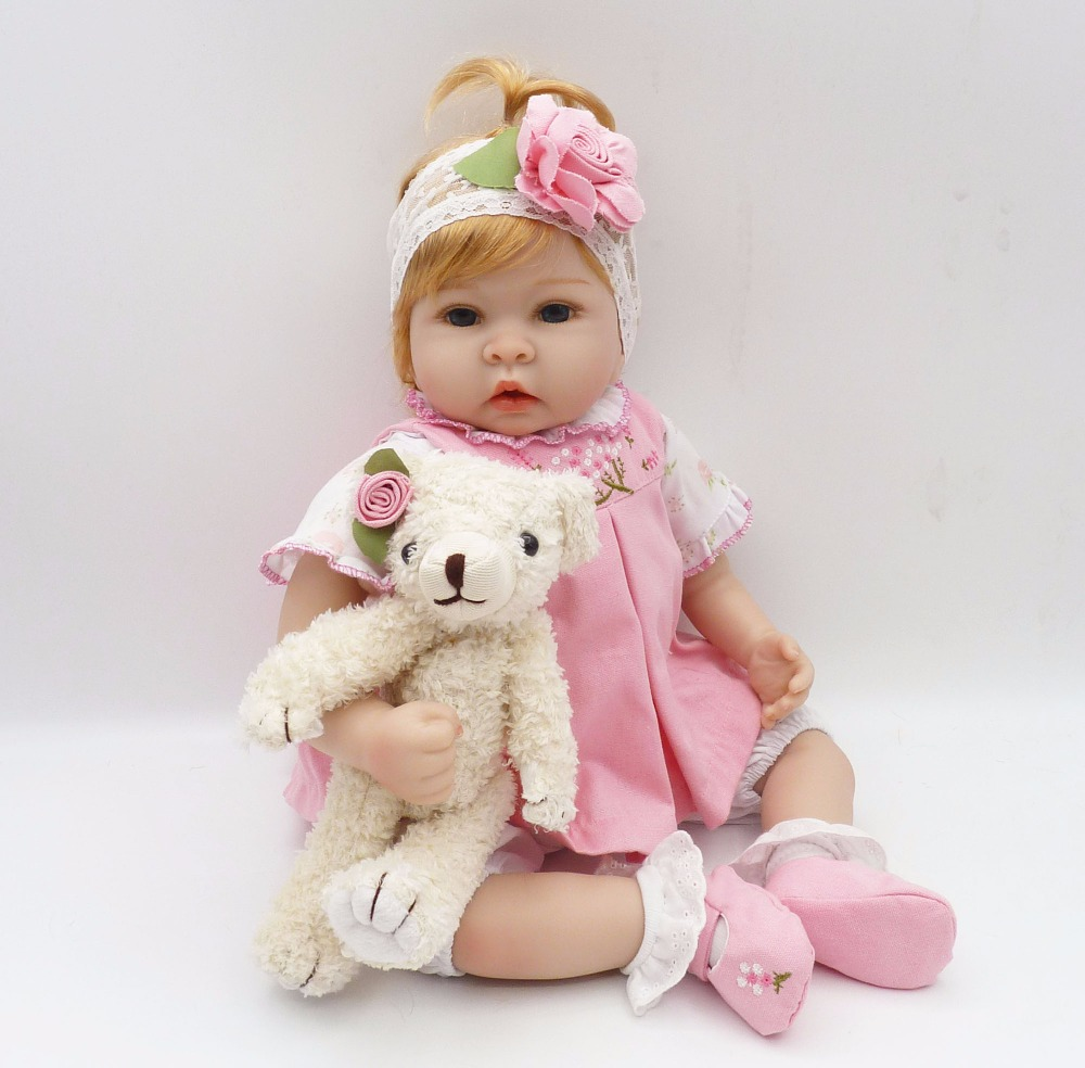 22 inch 55 cm Silicone baby reborn dolls Children's toys Beautiful fashion doll birthday gift for Christmas gifts : 91lifestyle