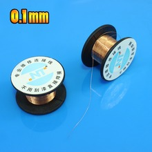 Jing Cheng Da 1 PCS 0.1MM Copper Solder Soldering welding phone repair PPA Enamelled Reel Wire TL-138(China)