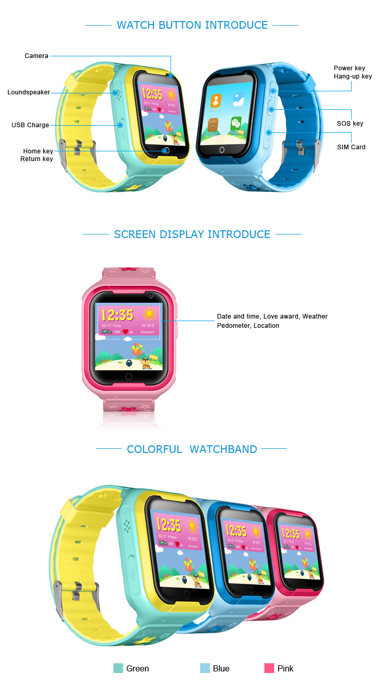 Kids GPS Tracker 4G Smart watch M05 LBS WIFI location SOS call Android 4.2 Pedometer Camera Children Smart watches M05 1PCS 4
