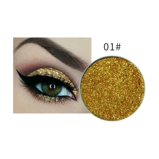 NiceFace brillo cara maquillaje polvo pigmento 24 colores maquillaje cosméticos diamante brillo sombra ojos brillo TSLM1