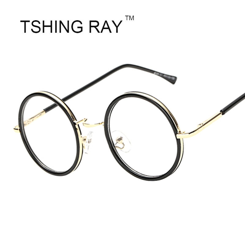 vintage round eye glasses frame men women brand designer harry potter cosplay reading optical nerd eyeglasses