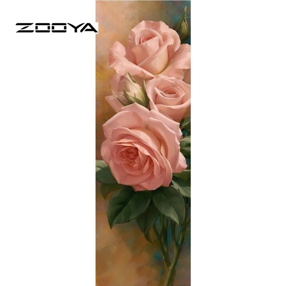 ZOOYA diamant peinture diamant broderie fleurs Rose modèle strass couture bricolage Kits artisanat diamant mosaïque RF1600