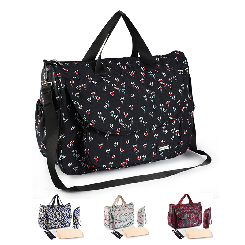 New Print Baby Bag for Stroller Waterproof Diaper Bag for Mom Large Capacity Mommy Nursing Bags Baby Care Maternity BagDiaper Bags   -