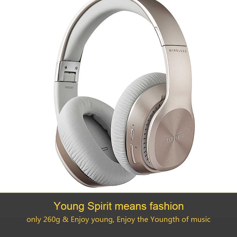 EDIFIER W820BT bezprzewodowe słuchawki Bluetooth Over-Ear izolacja szumów HIFI Stereo Bluetooth 4.1 zestaw słuchawkowy z mikrofonem pracy 80 godzin