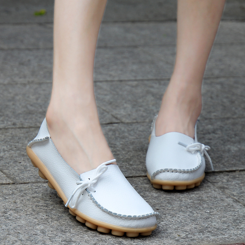 2017 new large size leather mother shoes with girls low waist shoes