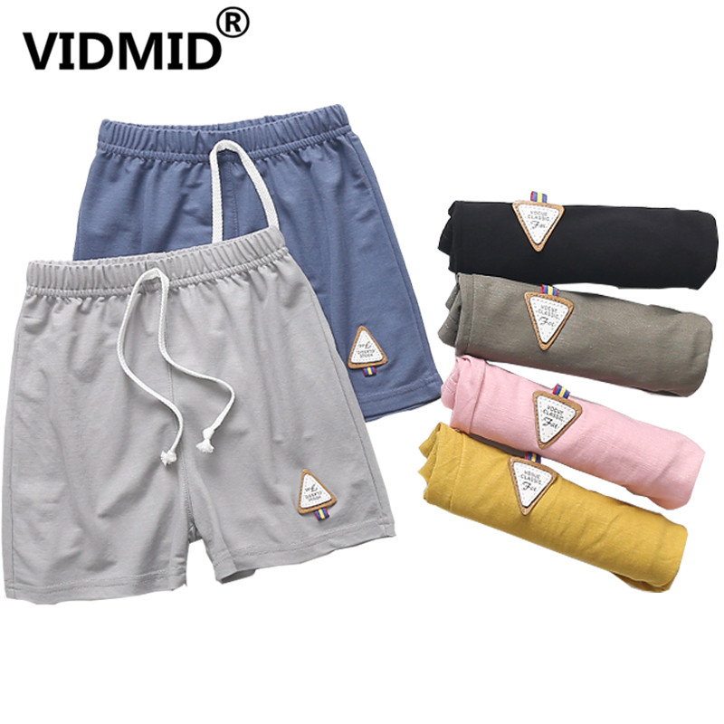 VIDMID Children Summer   Shorts   Cotton   Shorts   For Boys Girls Brand   Shorts   cotton Panties Kids cartoon Beach trousers 2001 16