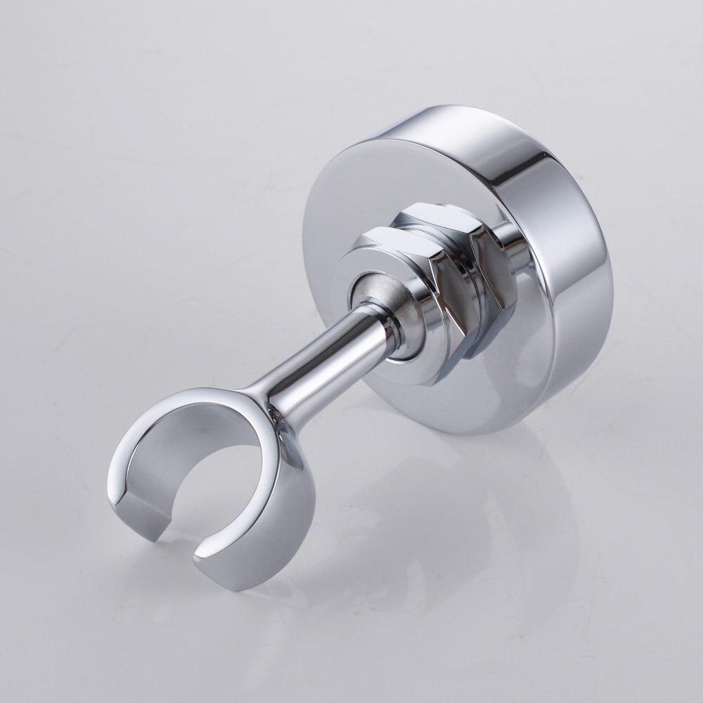 Polished Chrome Solid Brass Shower Head Bracket Holder Stepless ...