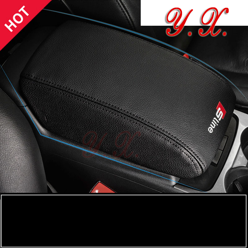 Sticker For Audi Fiber leather Armrest Box Anti-dirty Mats Interior Pad Set Decorative Cover For Audi A4 A6 Q3 Q5 Car Styling free ship turbo k03 29 53039700029 53039880029 058145703j n058145703c for audi a4 a6 vw passat 1 8t amg awm atw aug bfb aeb 1 8l