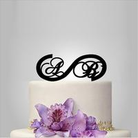 Monogram Custom Cake Topper Personalized Heart Design Cake Toppers Wedding Cake Decoration For Birthday Cake Accessories