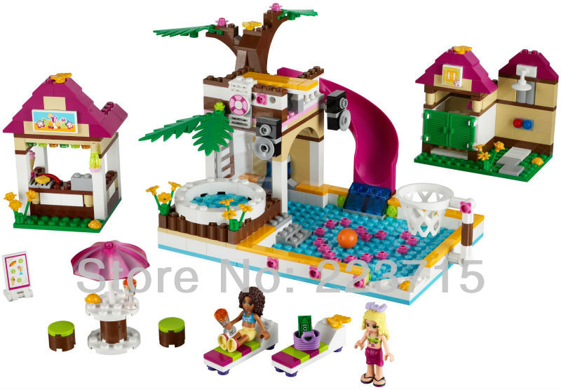 *Heartlake City Pool* DIY enlighten block bricks,Compatible With other Assembles Particles