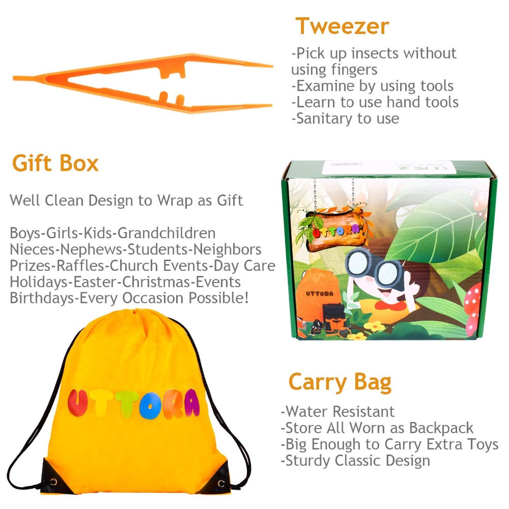 Flight Tracker Early Childhood Education Experimental Research Plastic Tool Box Insect Feeding Observation Box Net Breeding Box Puzzle Toy Set Biology Toys & Hobbies