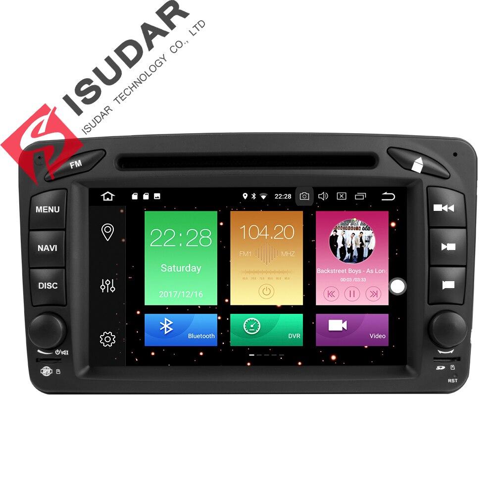 Isudar Voiture Multimédia Lecteur 2 Din Autoradio GPS Android 8.0 Pour Mercedes/Benz/CLK/W209/ vito/W639/Viano/Vito Canbus Autoradio FM