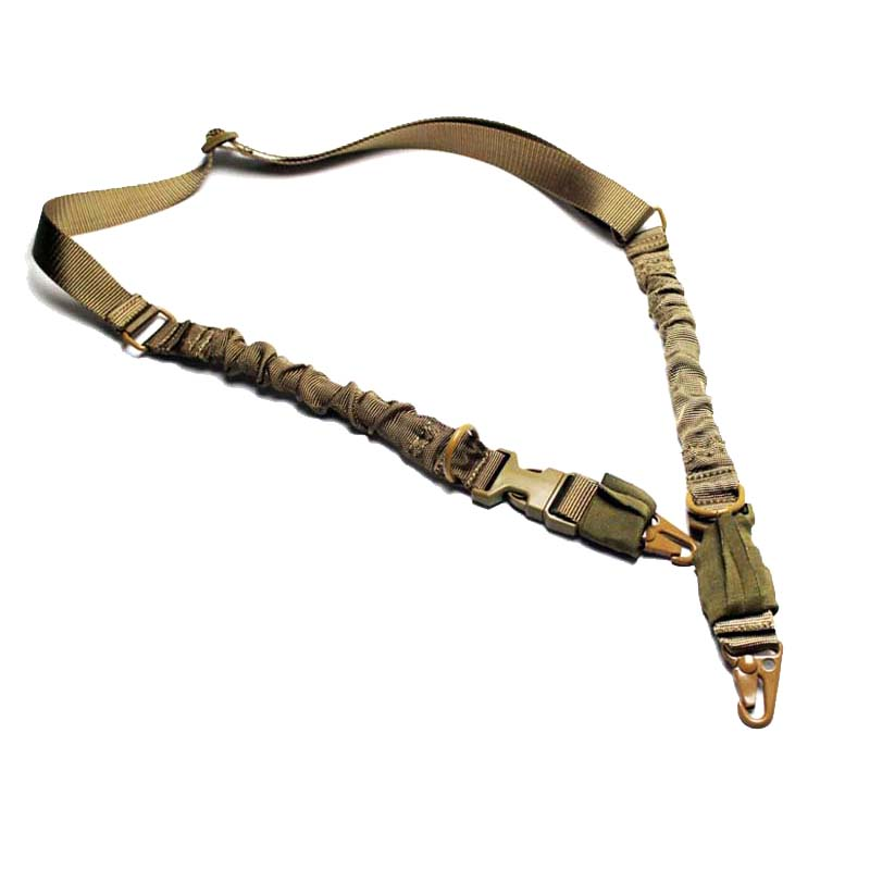 Nylon Multi function Adjustable Tactical Two Point Rifle Gun Sling Bungee Army Airsoft Hunting Gun Padded Strap Swivels System