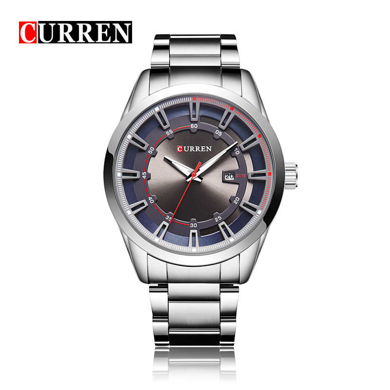 Fashion simple stylish Top Luxury brand Curren Watches men Stainless Steel Mesh strap band Quartz-watch Clock man W8246 fashion simple stylish top luxury brand watches men stainless steel mesh strap band quartz watch thin dial clock man 2016