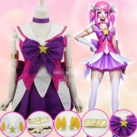 2017 LOL game cosplay costumes sexy Lux skirt anime wig the Lady of Luminosity Cos costume/hair a set