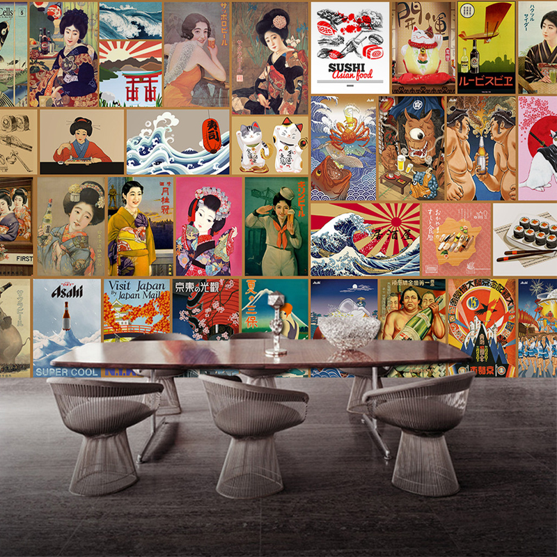 DropShipping Custom Mural  Sushi Cuisine Background Wallpaper for Janpanese Restaurant Commerce Wallpaper DecorDropShipping Custom Mural  Sushi Cuisine Background Wallpaper for Janpanese Restaurant Commerce Wallpaper Decor