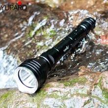 Yupard צולל צלילה 100m עומק מתחת למים פנס עמיד למים מואר לפיד XM L2 LED T6 לבן פנס צהוב אור מנורת 18650