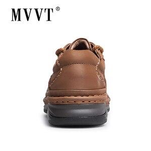 Image 3 - MVVT חורף רטרו גברים מגפיים למעלה איכות עור אמיתי מגפי גברים חורף קרסול מגפי אופנה פלטפורמת גברים נעליים