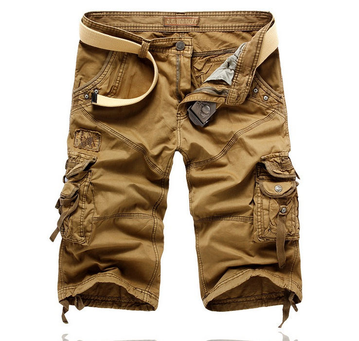 summer style 2016 fashion brand Mens Shorts casual loose slim straight Multi-pocket Shorts mens khaki grey blue black Shorts ...