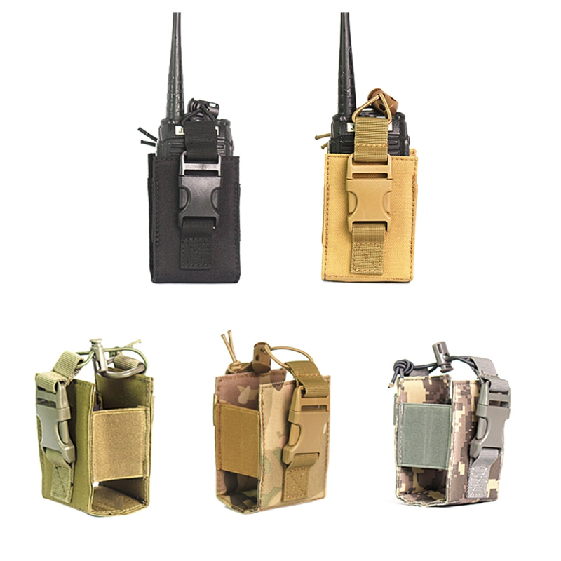 Hunting Tactical Molle Pouch Interphone Case Molle System Attachment Interphone Radio Case Walkie-talkie Bag