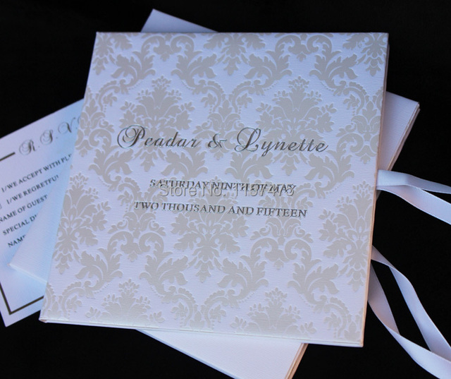 hi1074 personal customized luxury wedding invitation with hardcover