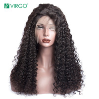 Virgo Curly Human Hair Wig 180% Density Full Lace Human Hair Wigs For Black Women Brazilian Hair Pre Plucked Remy Hair