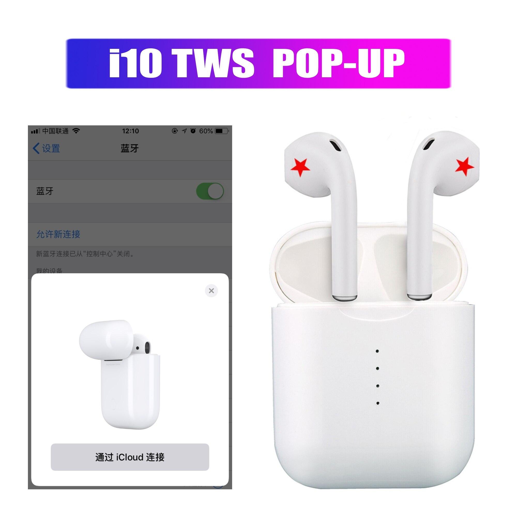 Pop up i10 i10s СПЦ 3D сенсорное управление Беспроводной наушники Bluetooth50 наушники гарнитуры для iphone Xiaomi PK i12 i13 i14 i15 i20 СПЦ купить на AliExpress