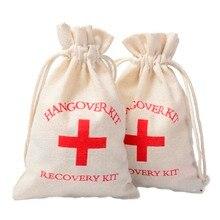 10шт 10x15 см свадебные бодуна комплект сумка девичник поставок хлопка Муслин подарок ткань сумки аптечки первой помощи