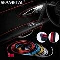 5 M Car Styling Marca Pegatinas y Calcomanías de Decoración de Interiores 3D Pegatinas Hilo Tira de La Decoración en el Coche-Styling Auto accesorios