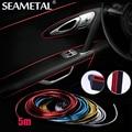 5 M Marca de Estilo Do Carro Adesivos e Decalques Interior Decorativo Fio 3D Adesivos Decoração Tira sobre-Car Styling Auto acessórios