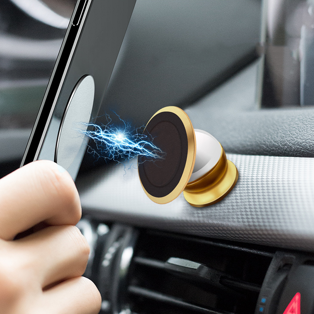 Car Phone Holder Magnetic + Metal Plate Disk Air Vent Magnet Mobile Phone Car Holder For Cell Phone Car Mount Holder Universal