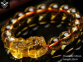 Fashion Natural Citrine Kylin Male Beaded Bracelet Hot Sale Good Luck