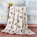 2016 Limitada Nova Chegada Animal Swaddle Cobertores Do Bebê Recém-nascido Primavera Cobertor de Flanela Ar Condicionado Folha de Cama Macia 150*200 cm