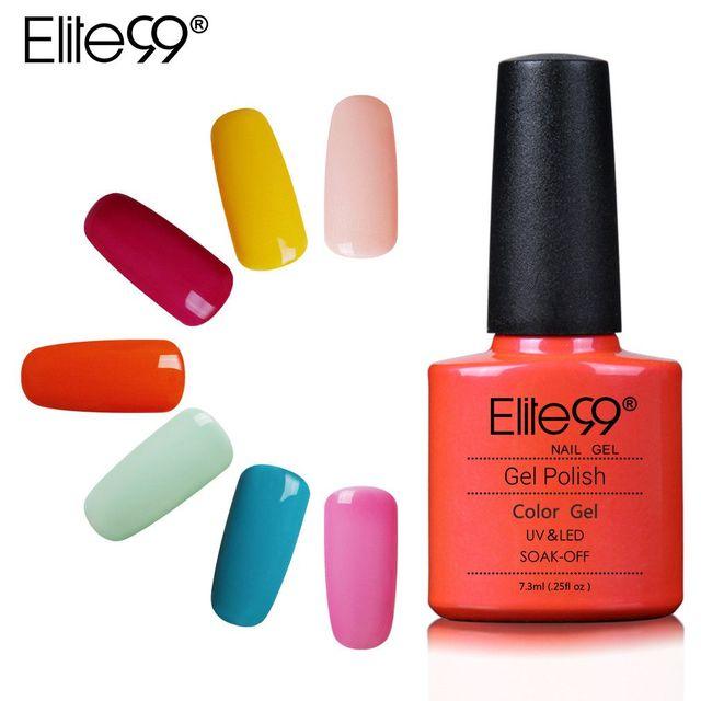 Elite99 7.3ml Long Lasting Color Gel for Nail Polish Soak off UV Nail Primer Art Gel Varnish Lacquer Polish Need Lamp Curing 1