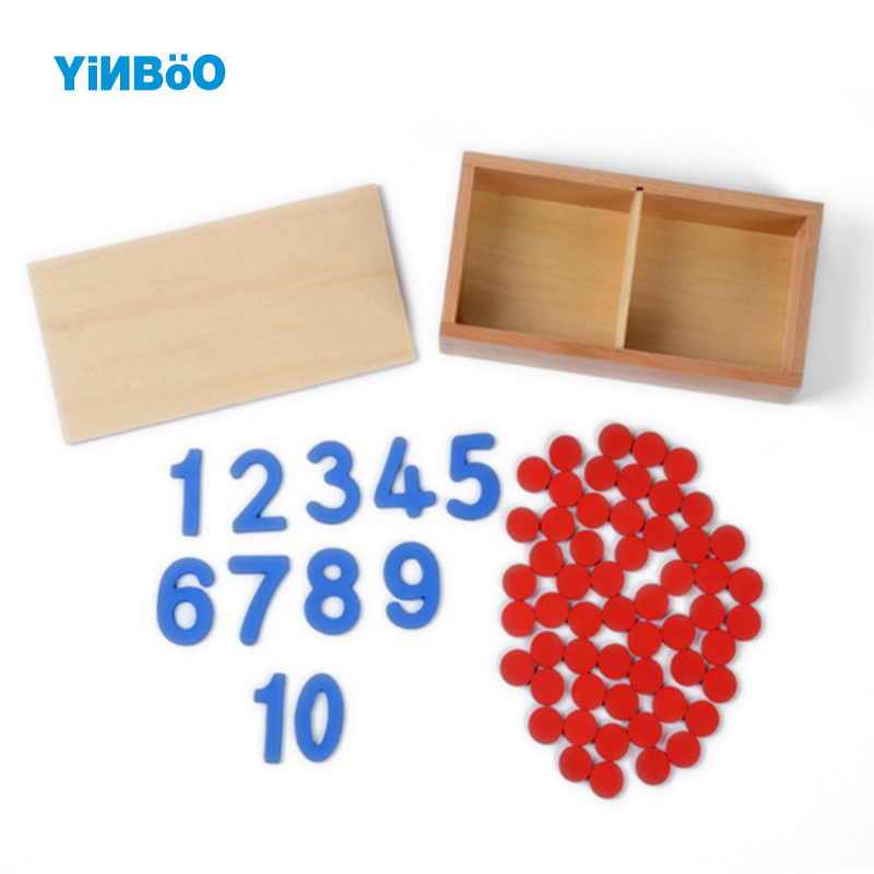 Montessori Educational Wooden Toy Cards Counters Math Number for Early Childhood Preschool Training Kids Toys