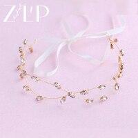 2 Layers Headband Wedding Hair Accessories Bridal Gold Headpiece Hair Jewelry Wedding Accessories Bride Tiaras And